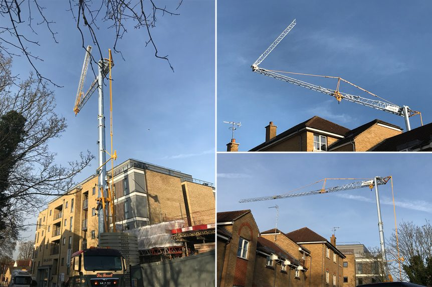Potain Hup 40 30 self erecting tower crane